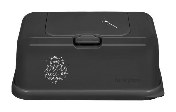Funkybox Feuchttücher Box schwarz - magic