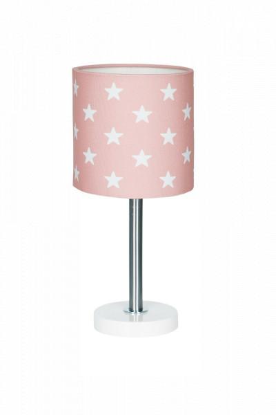 LIVONE Tischlampe Happy Style for Kids - STARS rosa