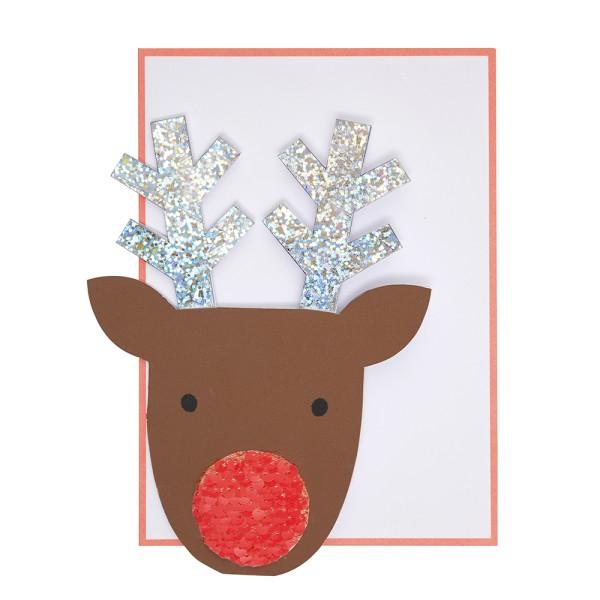 Meri Meri Weihnachts-Grußkarte mit Rentier-Motiv