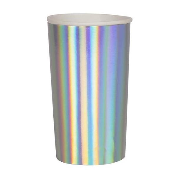 Meri Meri 8 Holografische Papp-Trinkbecher
