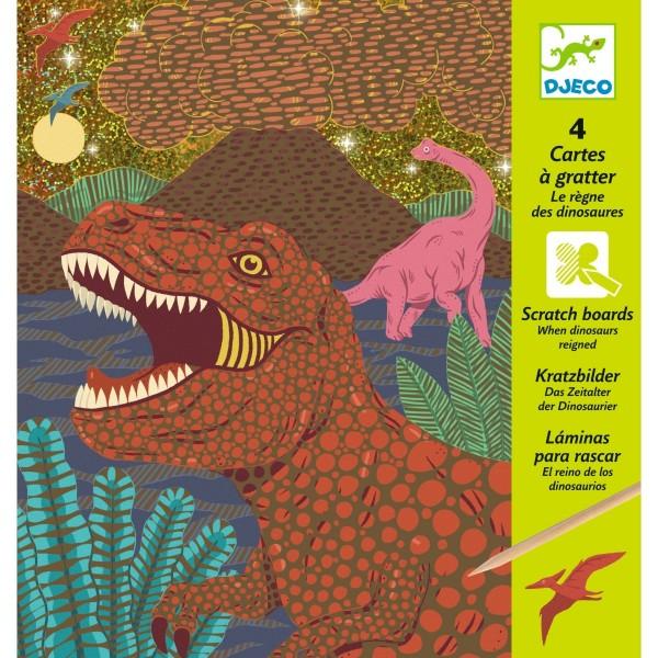 Djeco Kratzbilder Das Zeitalter der Dinosaurier