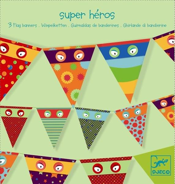 Djeco 3 Girlanden Super Heros