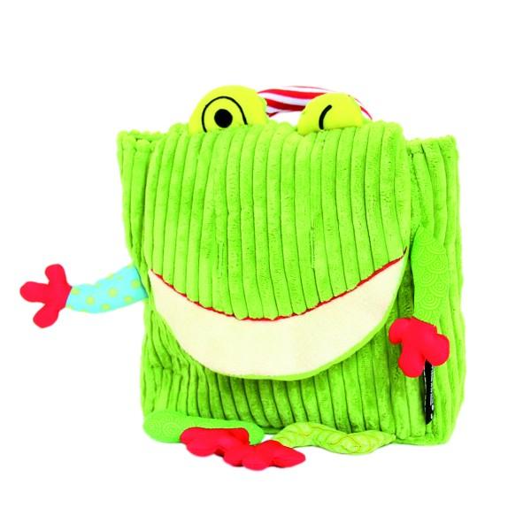 Les Deglingos Mini-Rucksack Croakos der Frosch