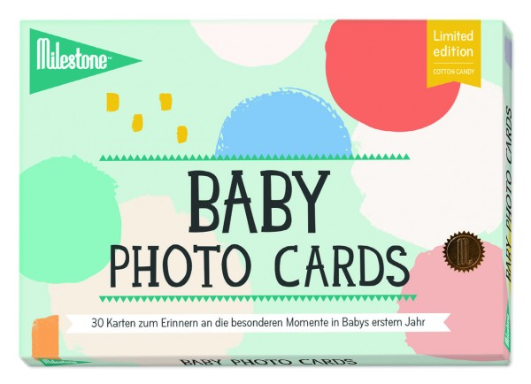 Milestone - Cotton Candy Baby Photo Cards - deutsche Version