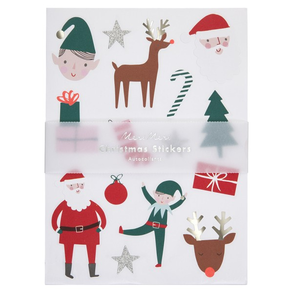 Meri Meri Aufkleber mit Weihnachtsmotiven