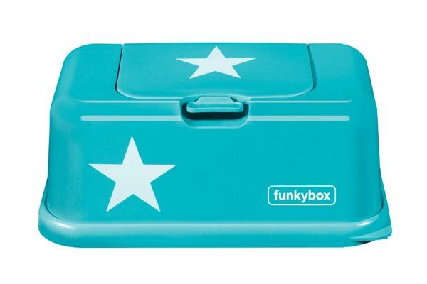 Funkybox Feuchttücher Box türkis - Sterne