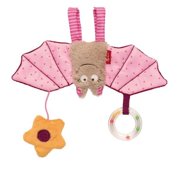 sigikid Anhänger für Babyschale Fledermaus rosa Baby bite me!