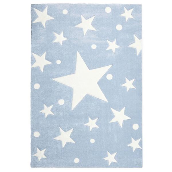 LIVONE Kinderteppich Happy Rugs STARS blau/weiss 100x160cm