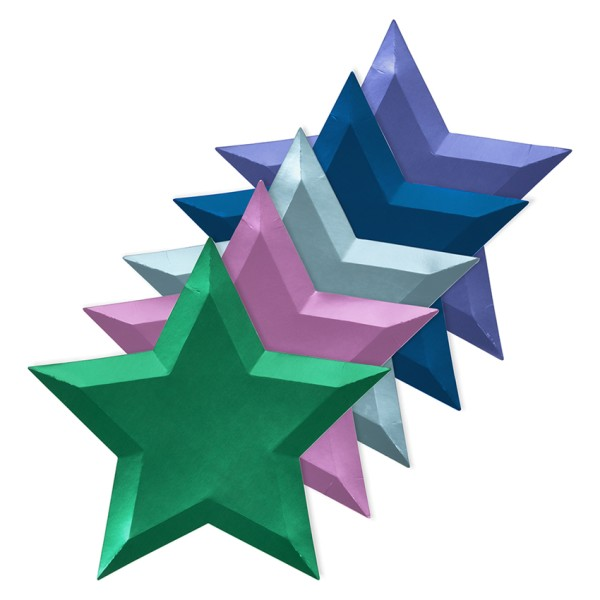 Meri Meri 8 metallisch schimmernde Papp-Teller