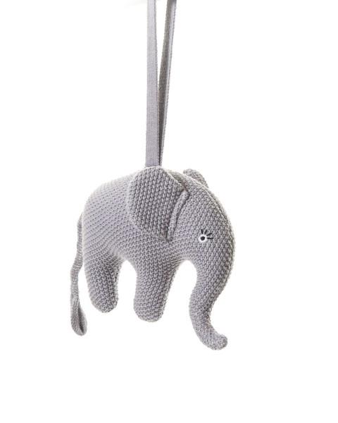 Smallstuff Spieluhr gehäkelt Elefant flieder