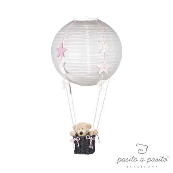 pasito a pasito Ballonlampe Mond und Sterne rosa