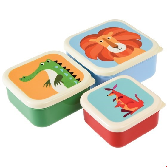 Rex London 3er Set Snackdosen Tiere
