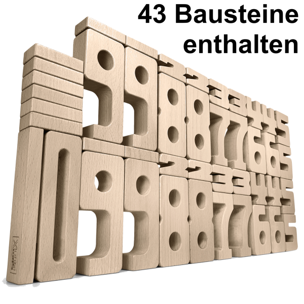 SumBlox Holzbausteine Home Set - 43 Bausteine