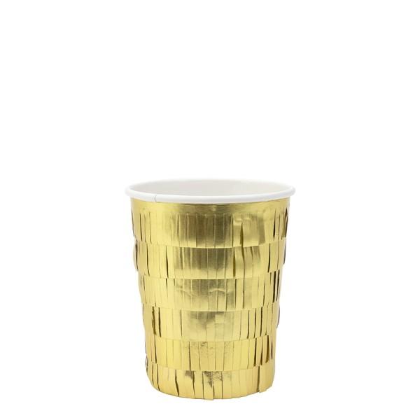 Meri Meri 8 goldene Einweg-Trinkbecher
