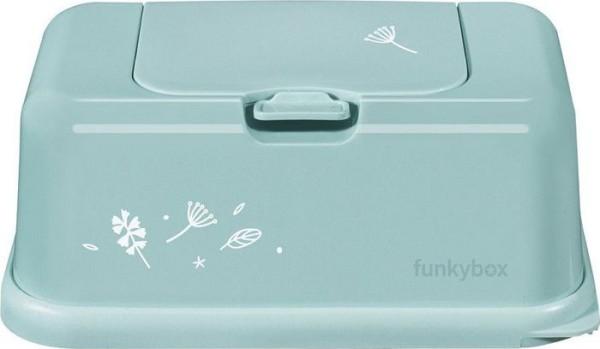 Funkybox Feuchttücher Box - mint Blätter