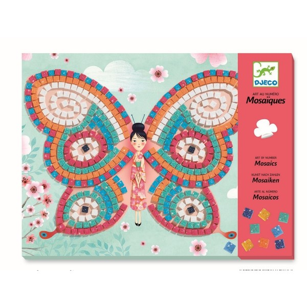 Djeco Kinderkunst Mosaik Schmetterlinge