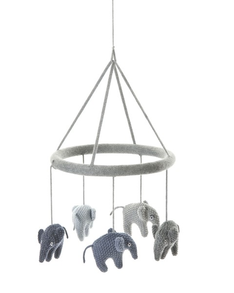 Smallstuff Mobile Elefant blau/grau