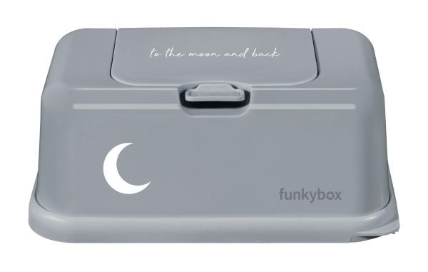 Funkybox Feuchttücher Box grau - Mond