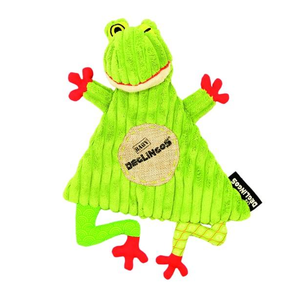 Les Deglingos Schmusetuch Croakos der Frosch