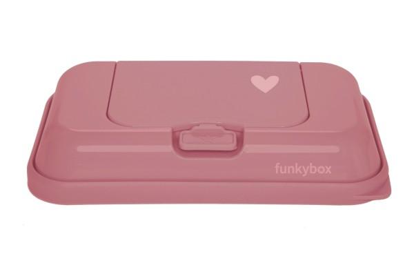 Funkybox TO GO Feuchttücher Box rose - Herz