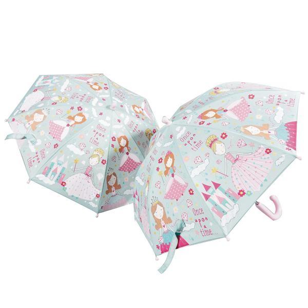 Floss & Rock Regenschirm mit Farbwechsel - Prinzessin