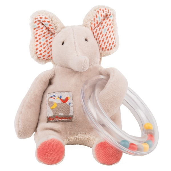 Moulin Roty Papoum Ring-Rassel Elefant