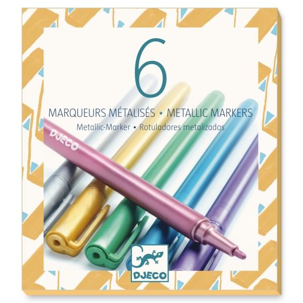 Djeco 6 Metallic Marker