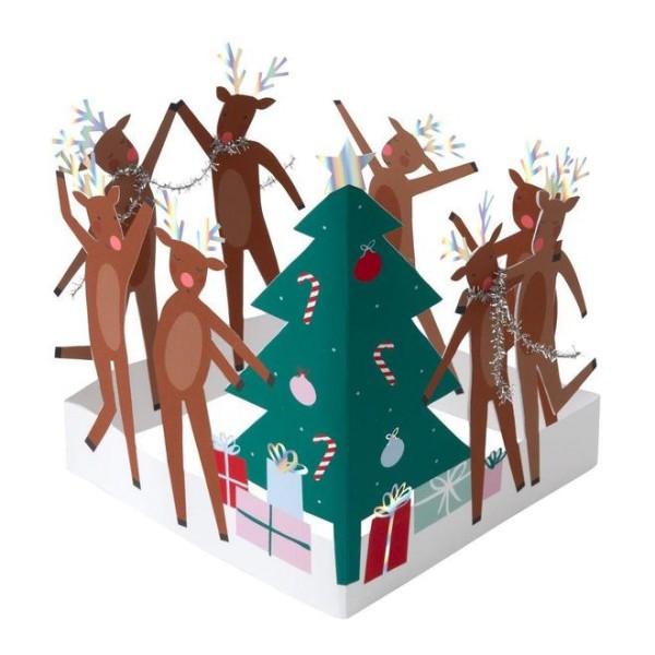 Meri Meri Weihnachts-Grußkarte Rentiere