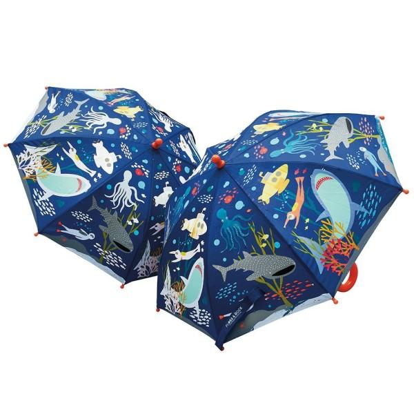 Floss & Rock Regenschirm mit Farbwechsel - Unterwasserwelt