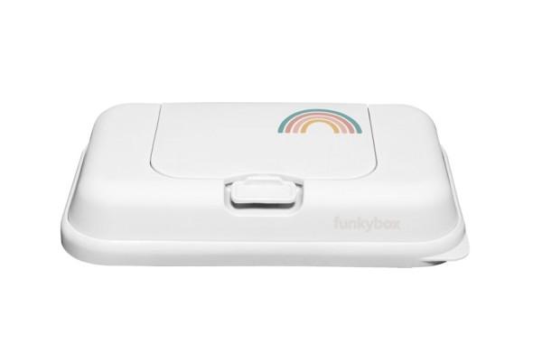Funkybox TO GO Feuchttücher Box weiß - Regenbogen