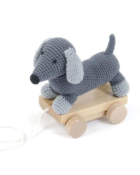 Smallstuff Nachziehtier Hund grau