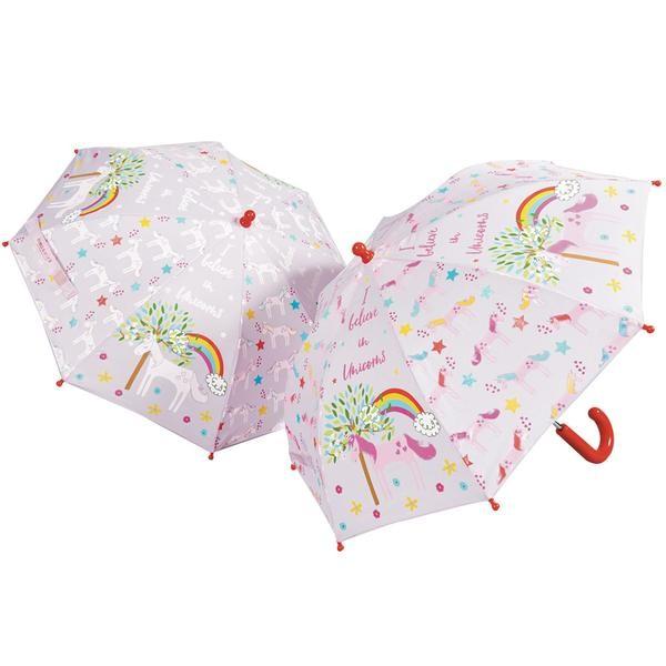 Floss & Rock Regenschirm mit Farbwechsel - Einhorn
