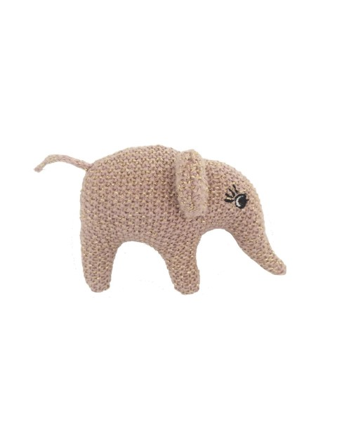 Smallstuff gehäkelte Rassel Elefant rosa/gold