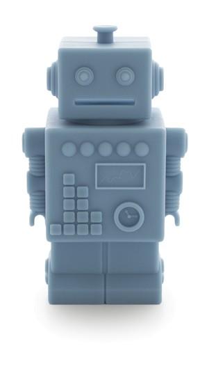 KG Design Spardose Roboter blau