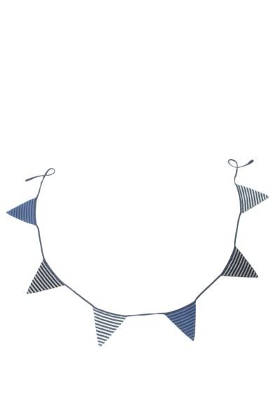 Smallstuff Wimpelkette gestrickt blau/grau