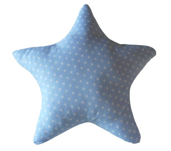 Kissen Stern hellblau