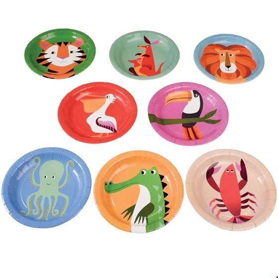 Rex London 8 Pappteller Tiere